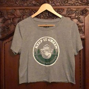 New Smokey Bear prevent wildfires cropped shirt